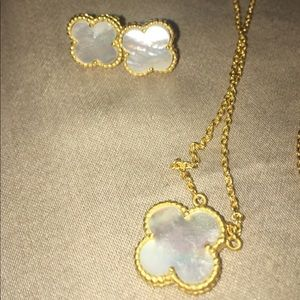 Jewelry - Alhambra palace style/mother of pearl/clovers set